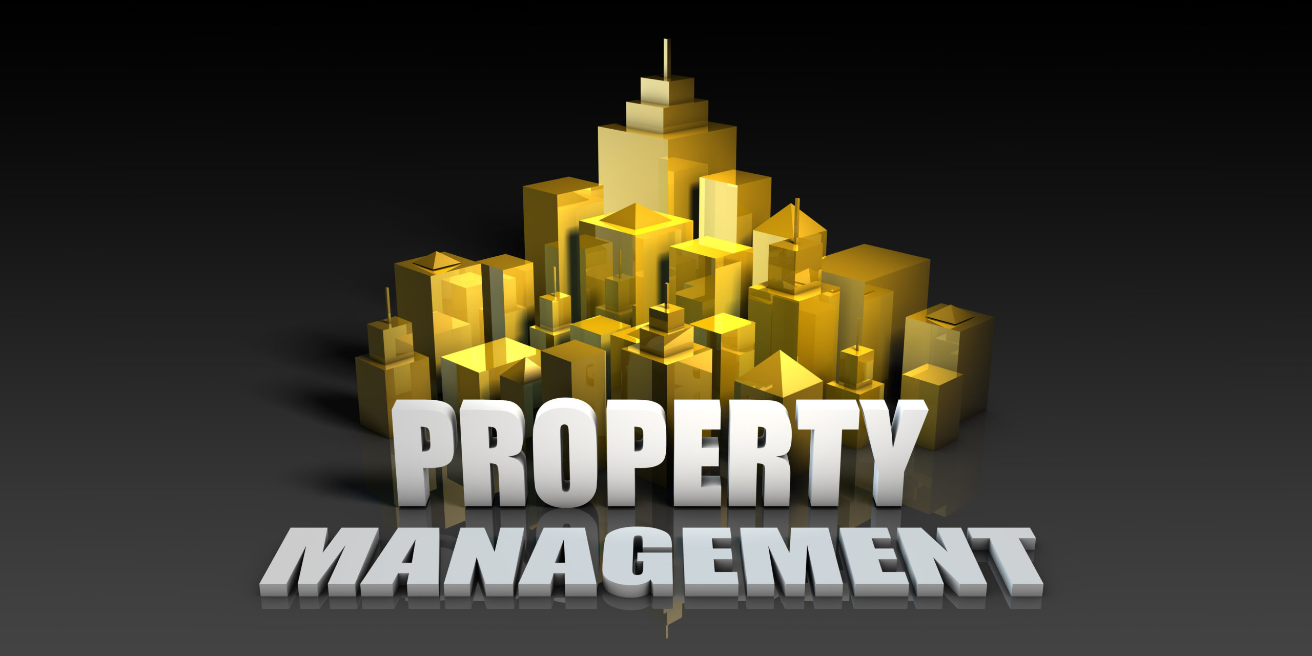Property Management With Model of Golden City in the background