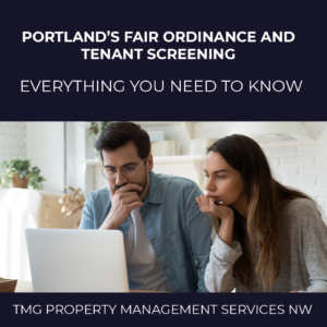 Portland's Fair Ordinance and Tenant Screening