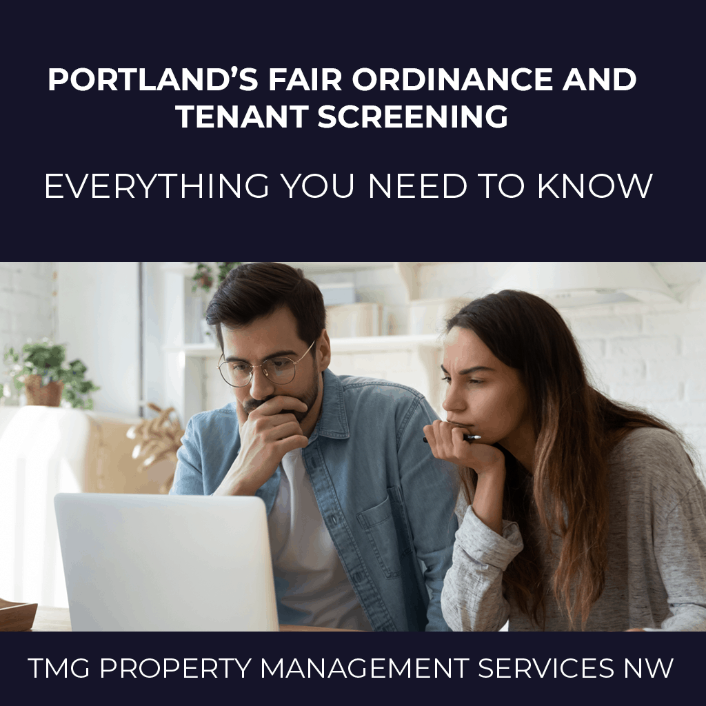 Portland's Fair Ordinance and Tenant Screening