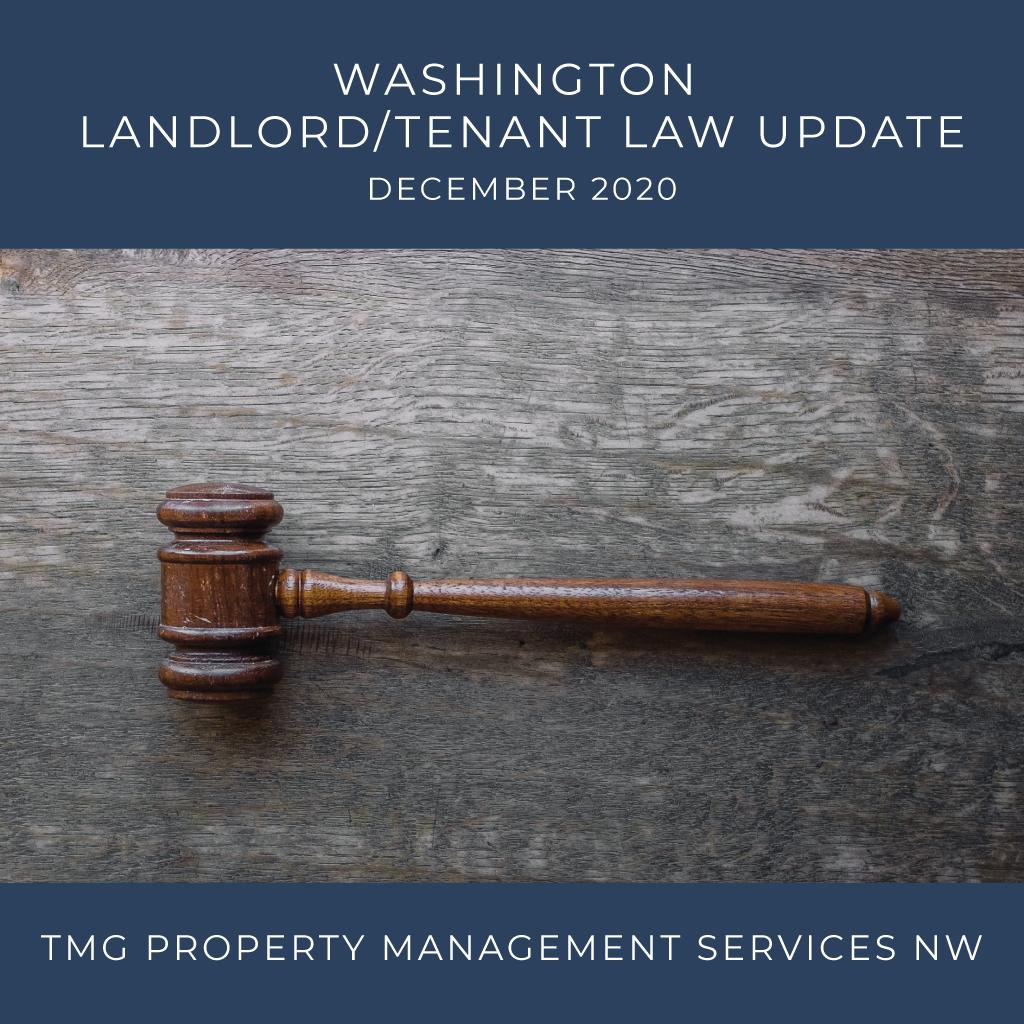 Washington Landlord Tenant Law Update