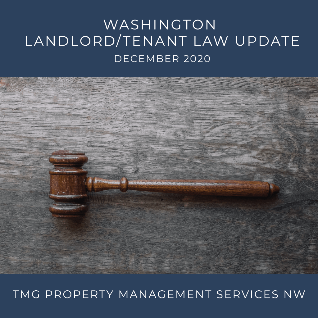 Washington Landlord Tenant Law Update